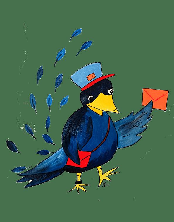 Posteljooni Hanna varis lintu