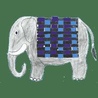 Piirros harmaa norsu